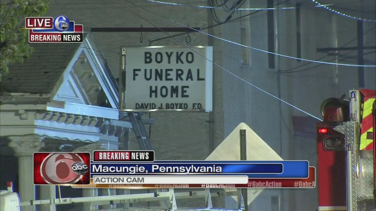Funeral home fire in Macungie Twp.