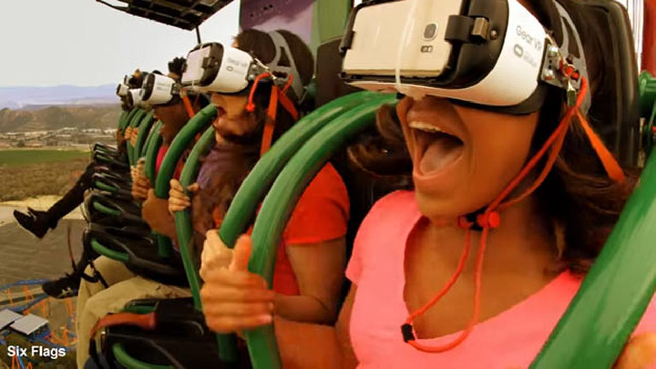 Six Flags Great Adventure unveils virtual reality drop ride