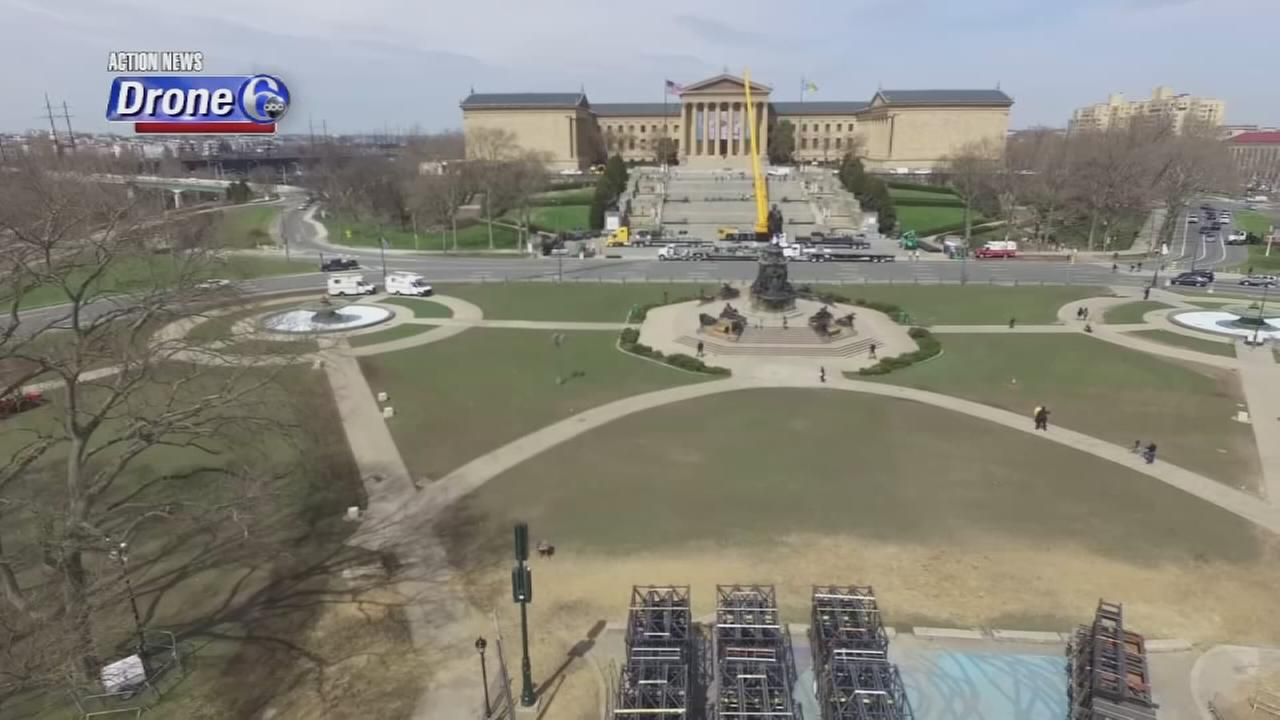 VIDEO: Drone 6 over the Ben Franklin Parkway