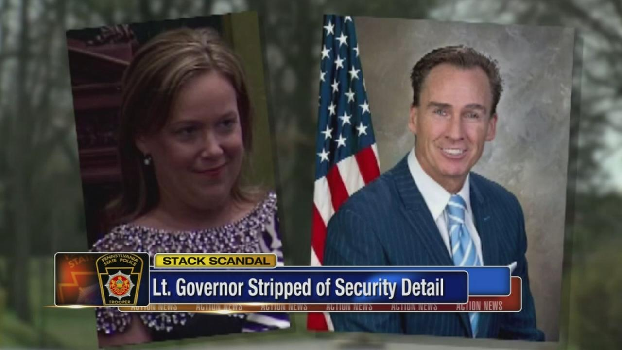 VIDEO: Pa. lt. governor stripped of security detail