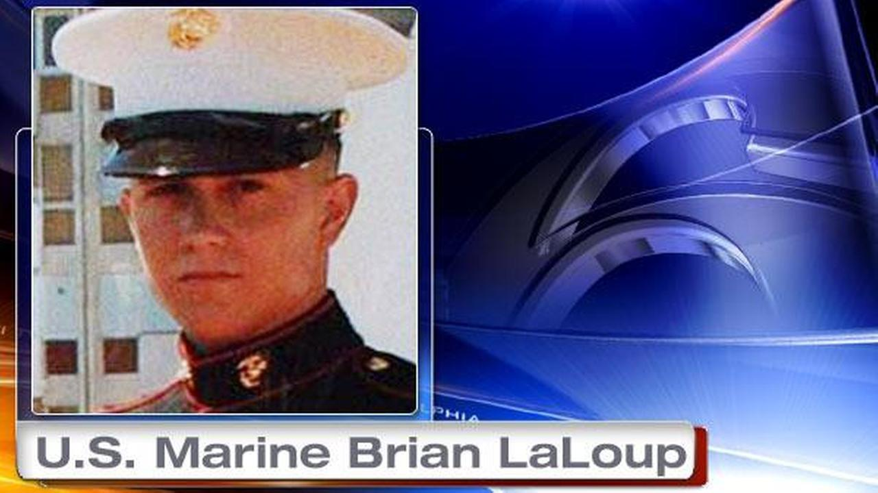This undated photo provided by the family via attorney Aaron J. Freiwald shows U.S. Marine Brian LaLoup who died in 2012 while stationed in Greece.