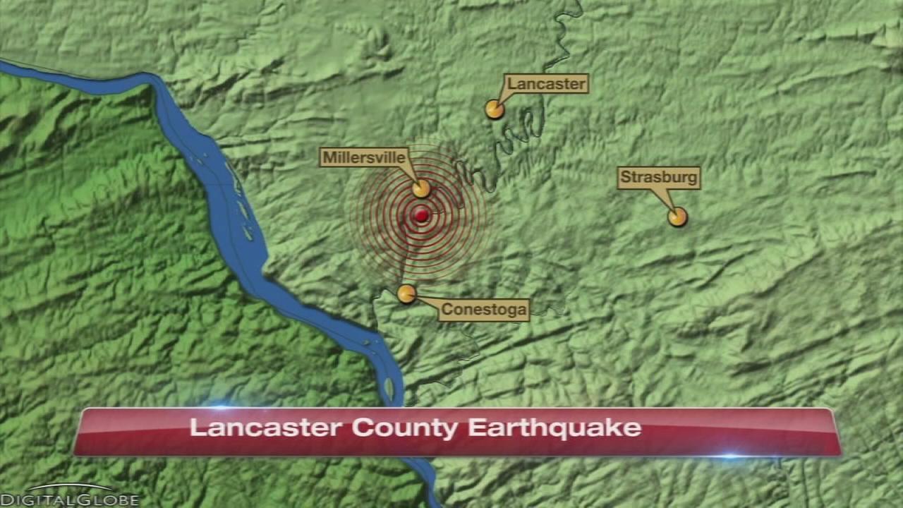 2.3 magnitude quake strikes Lancaster