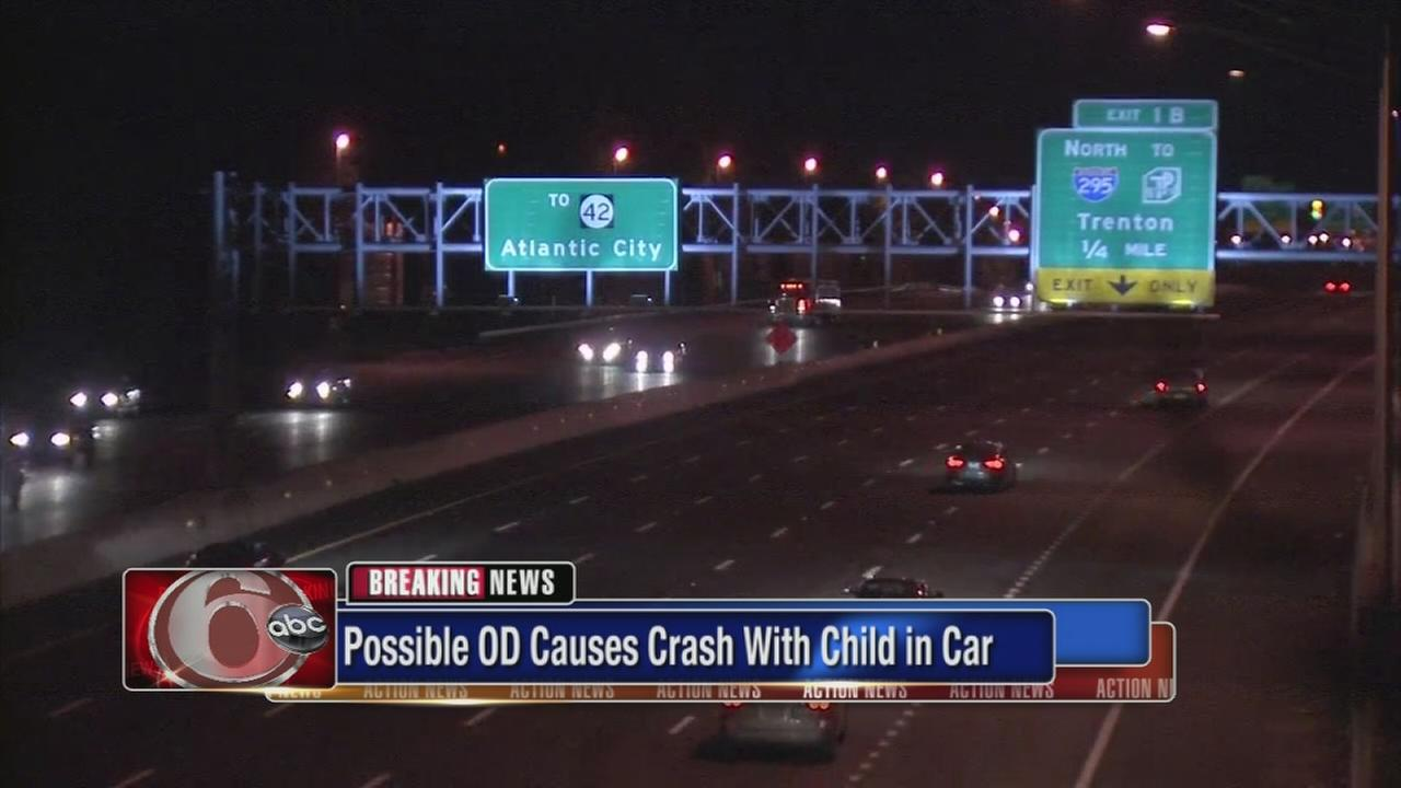 Possible OD causes crash with child in car