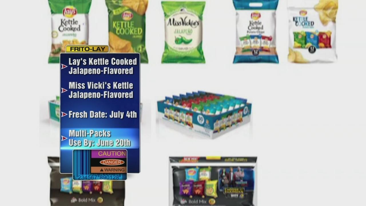 Frito-Lay recalls jalape?o-flavored chips due to salmonella threat