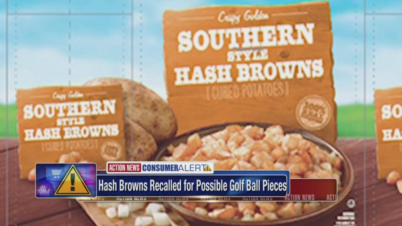 Hash browns recalled for possible golf ball pieces