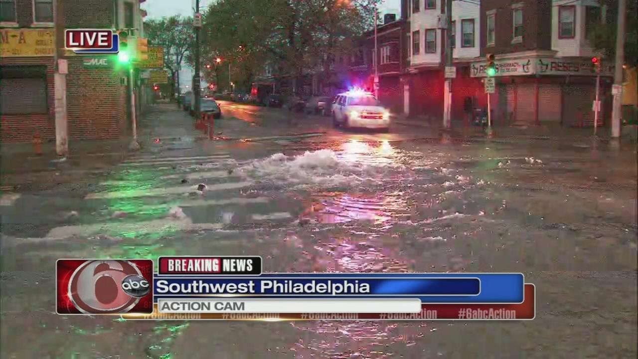 Water main break in SW Philly