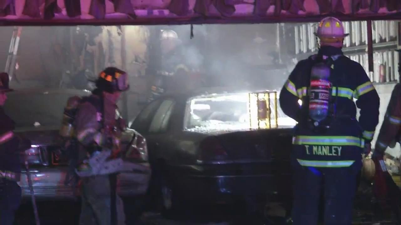 Man, 87 critical after Del. garage fire