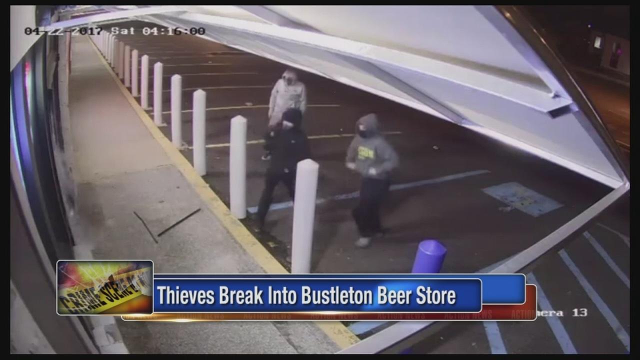 Burglars smash their way into Bustleton beer store