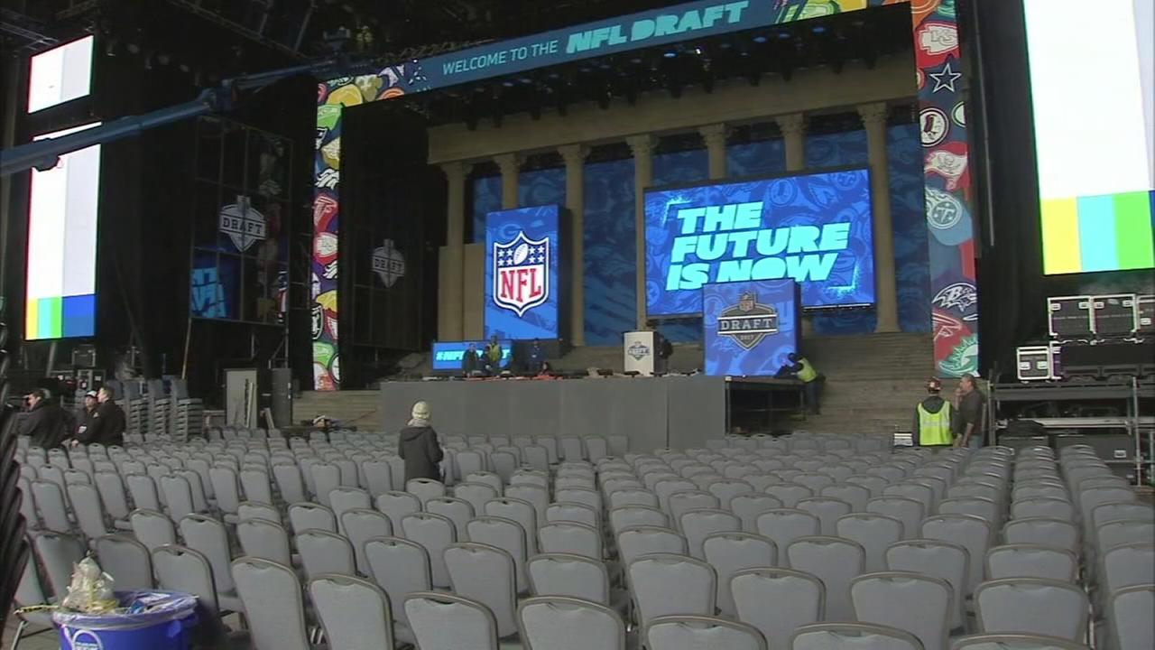 Get a sneak peek inside NFL Draft stage in Philadelphia