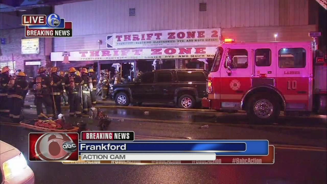 Fire damages thrift store in Frankford