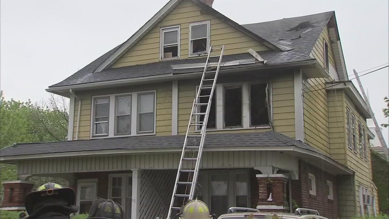 Fire damages twin home in Trenton