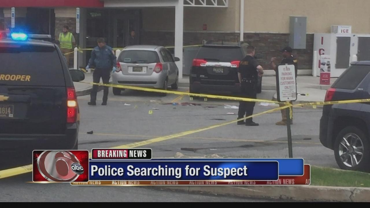 State trooper shot outside Wawa
