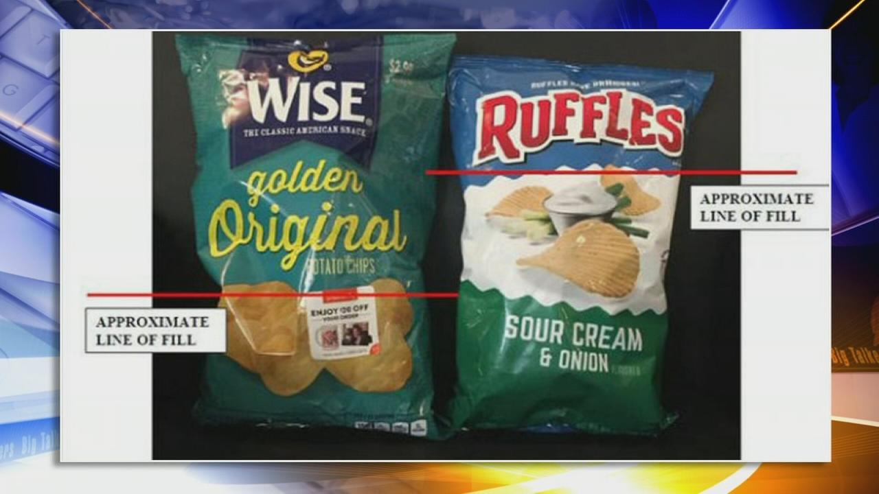 Lawsuit filed over amount of air in potato chip bags