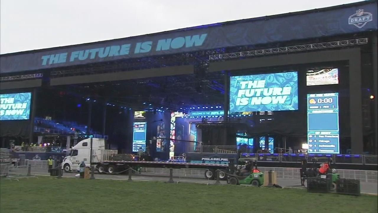 The eve before NFL Draft in Philly