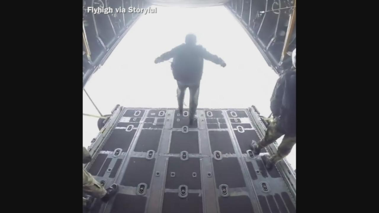 VIDEO: Through the eyes of a paratrooper