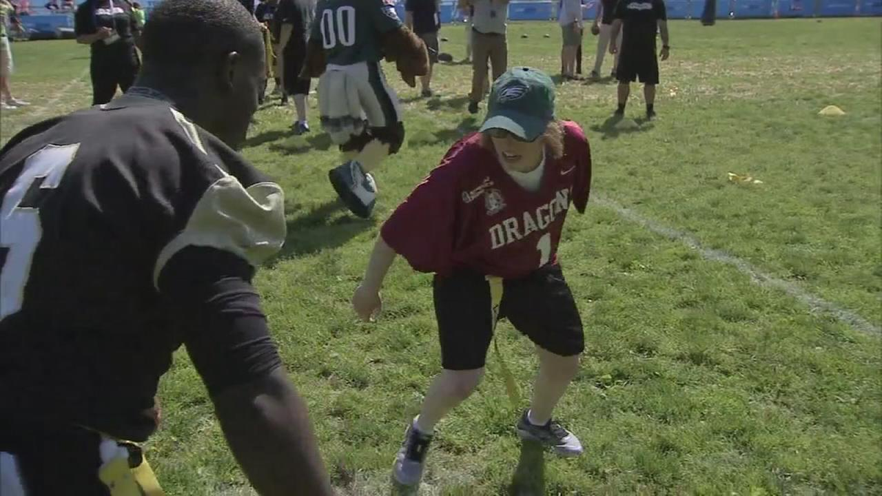 Eagles team up with Special Olympics for flag football
