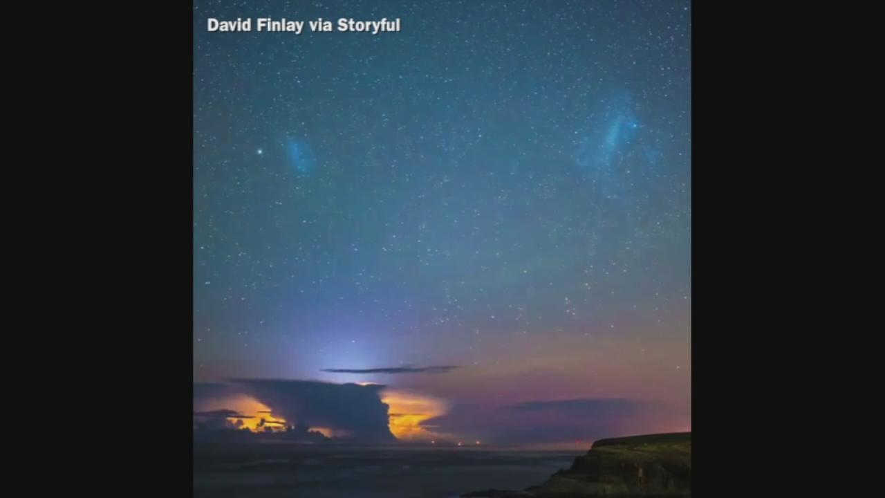 VIDEO: Meteor shower combines with lightning sprites