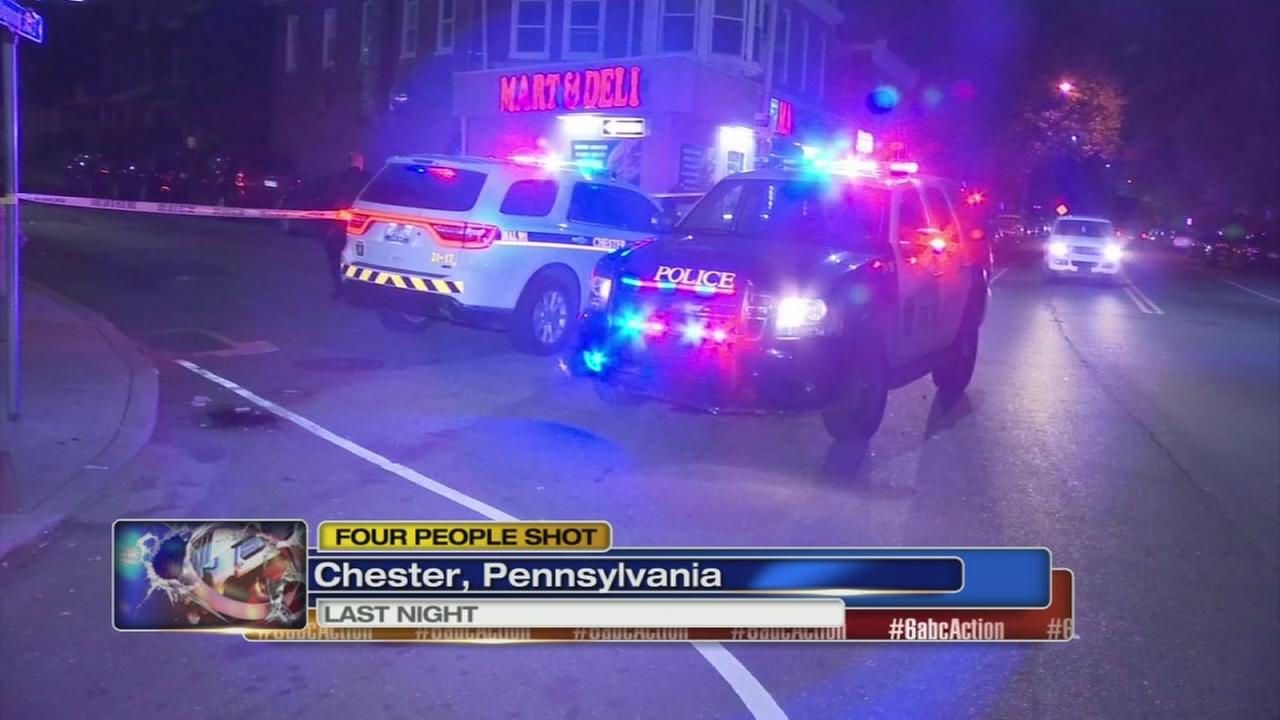 VIDEO: 4 shot in Chester, Delaware County