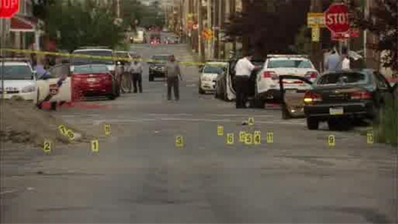 Gunshot victims found after crash in North Phila.