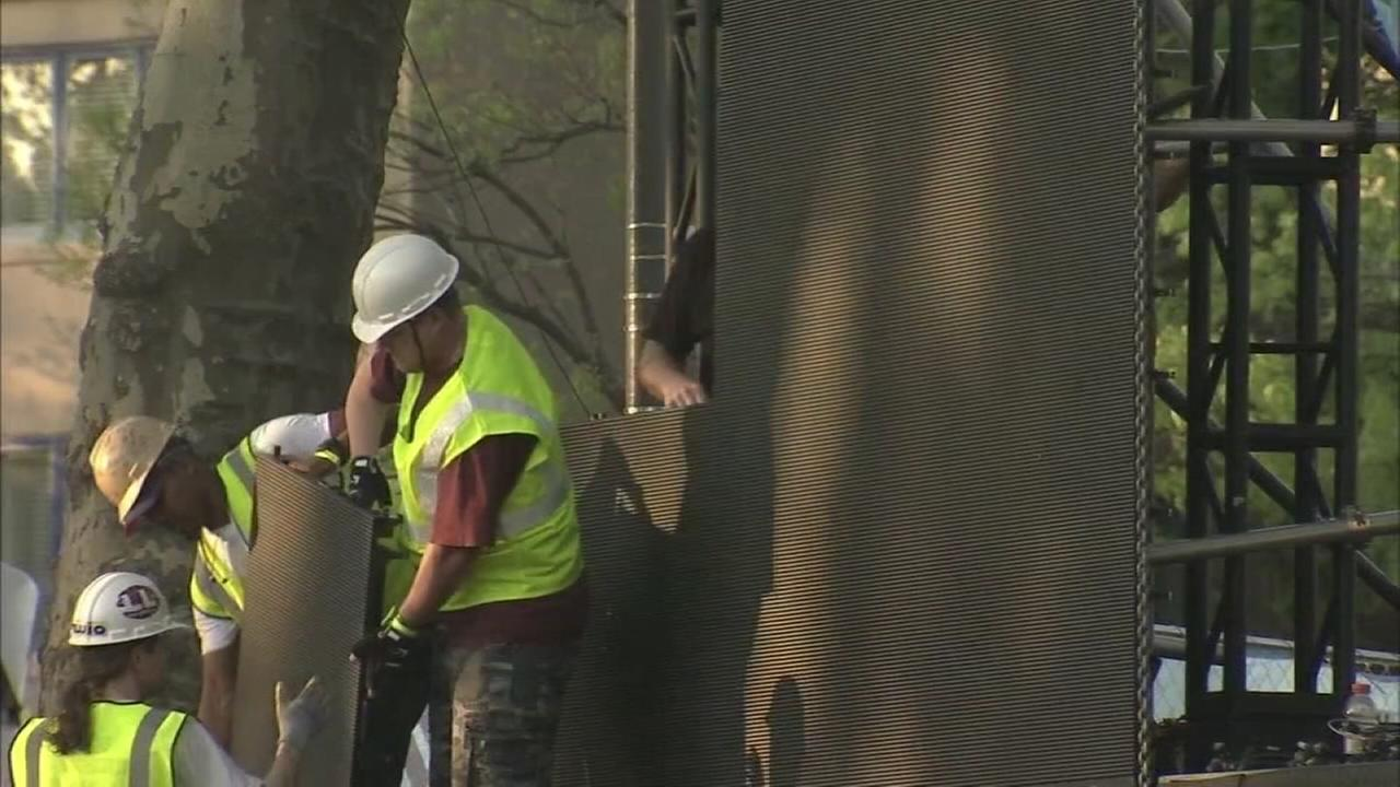 Cleanup begins on the Parkway after NFL Draft