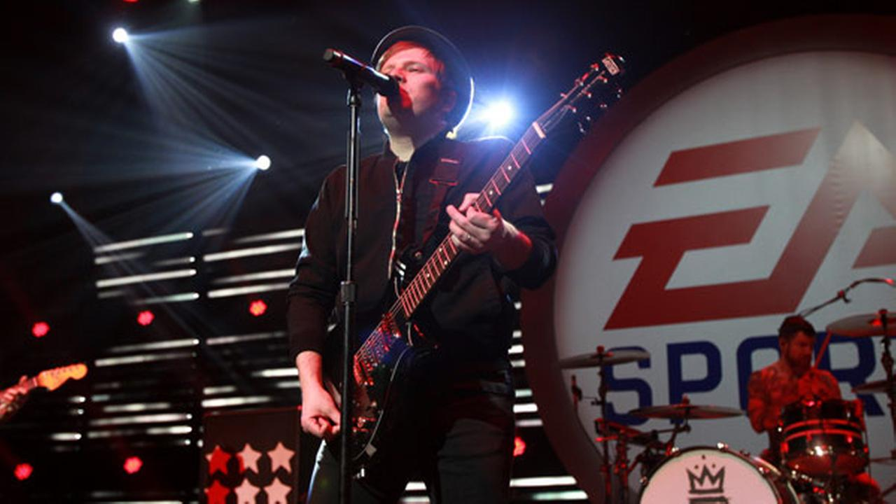Fall Out Boy performs during EA SPORTS Madden Bowl XXII, Thursday, Feb. 4, 2016, in San Francisco.