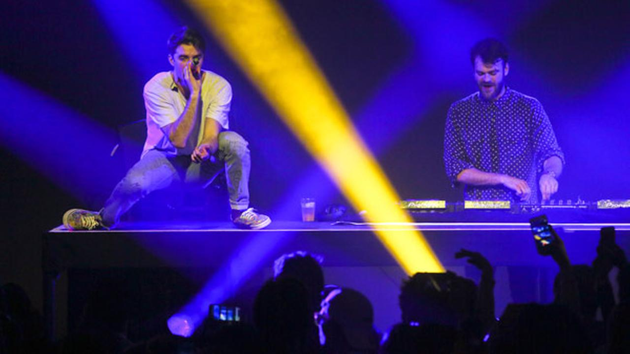 The Chainsmokers Drew Taggart, left, and Alex Pall perform at the SONY Lost in Music Showcase during the South by Southwest Music Festival early Friday, March 17, 2017, in Austin.