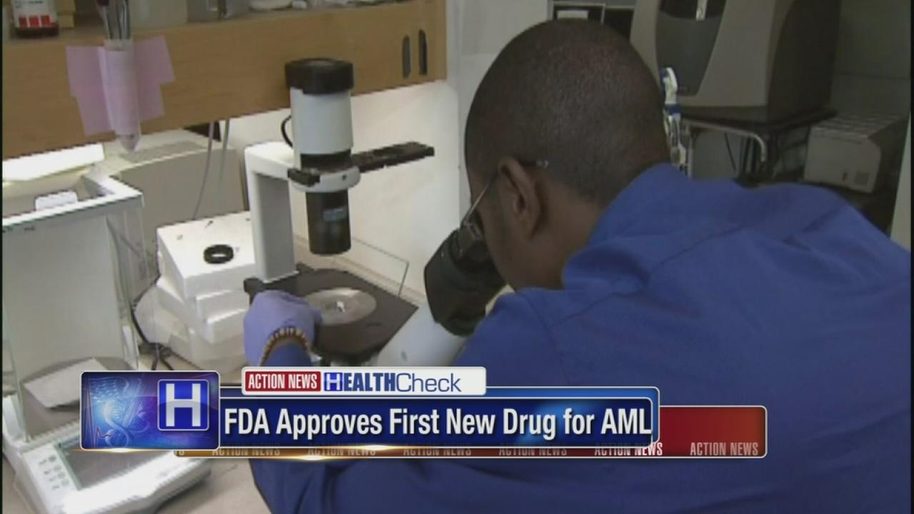 FDA approves 1st targeted drug for certain leukemia patients