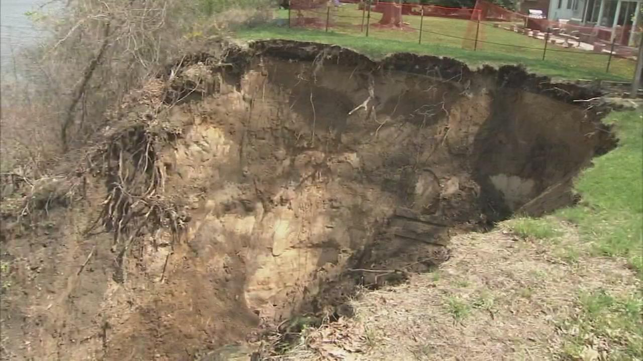 Plans in the works to stabilize sinkhole in Burlington Co.