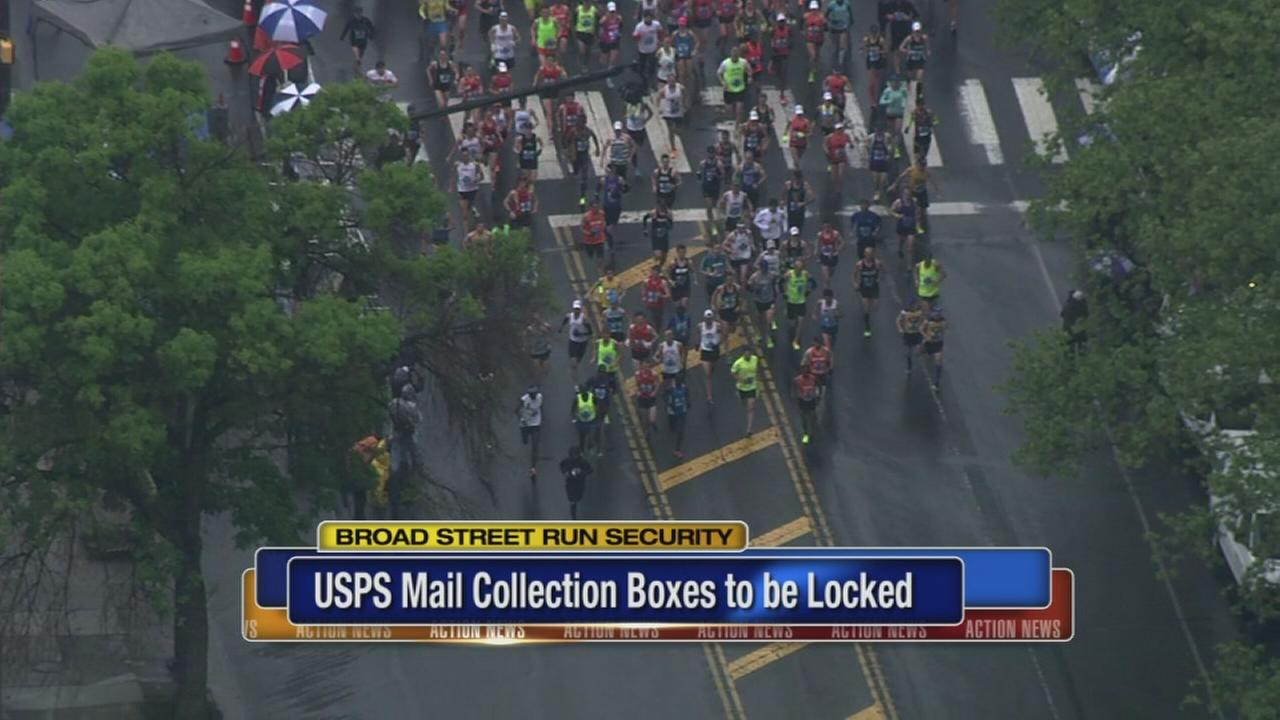 US mailboxes locked for Broad St. Run