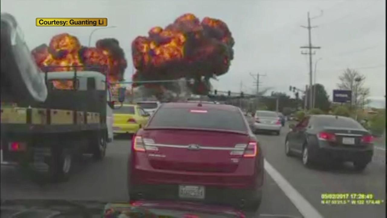 Dash cam video shows plane crash
