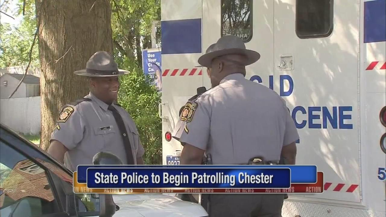 VIDEO: Pa. State Police to begin patrolling Chester