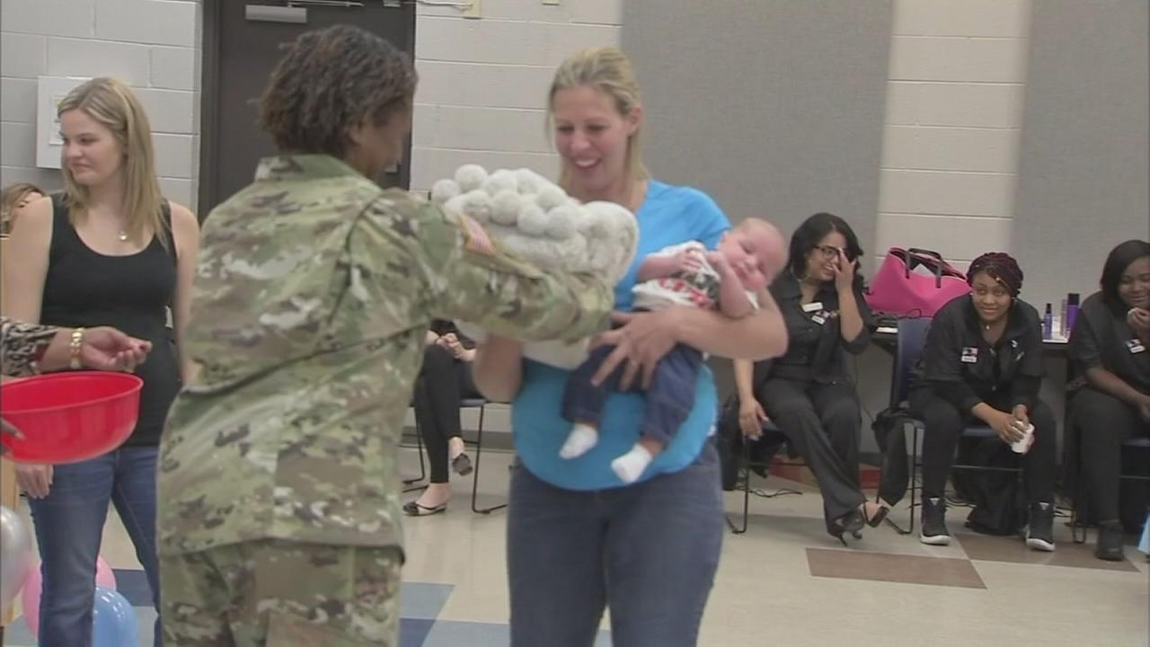 VIDEO: Military moms gifted with brand-new cribs