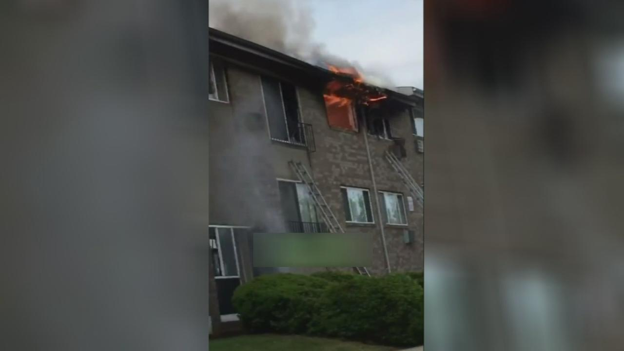 VIDEO: 22 residents displaced after Olney apartment fire