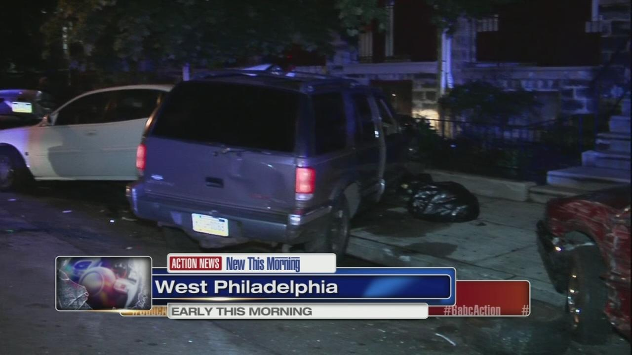 Driver in custody after chain-reaction crash in West Philadelphia