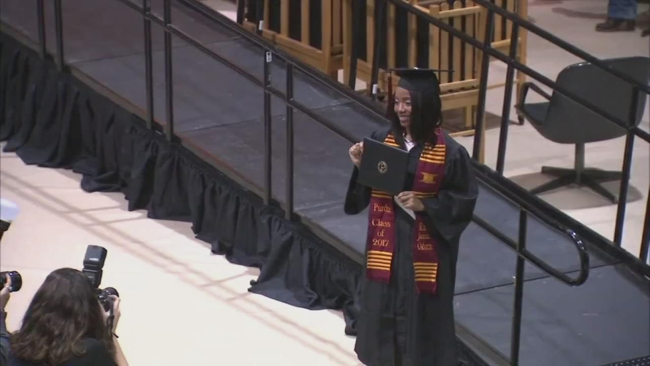 VIDEO: Super grade receives college degree while in high school