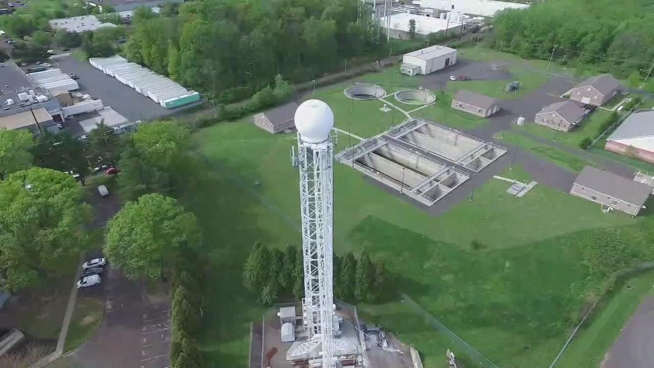 VIDEO: Drone 6 flies over StormTracker 6 Double Scan radar