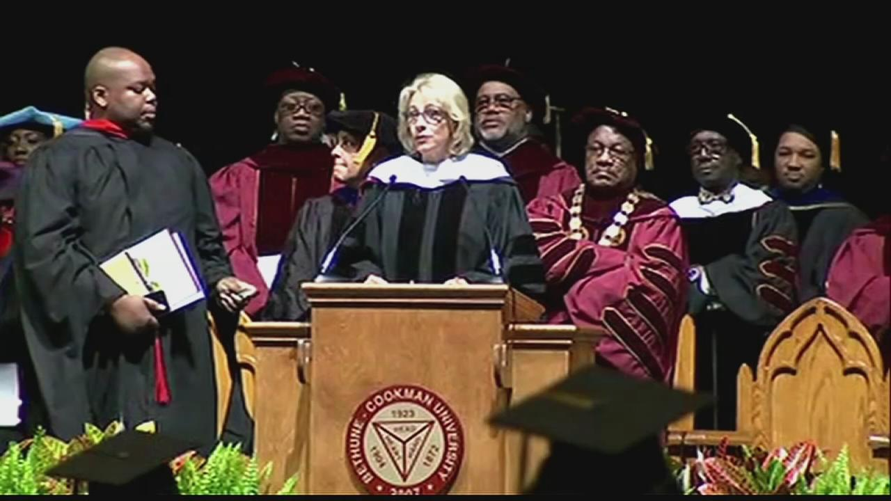 DeVos booed speaking at historically black university