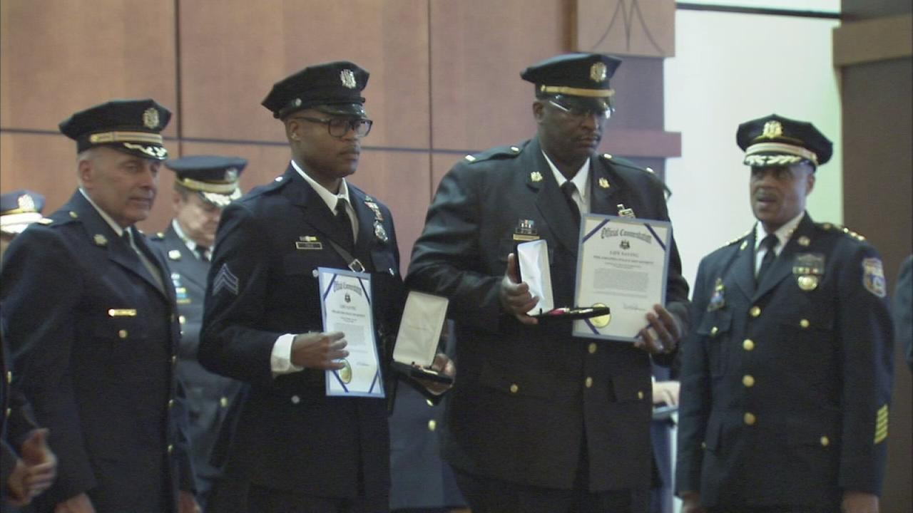 Phila. police officers receive commendations for heroism