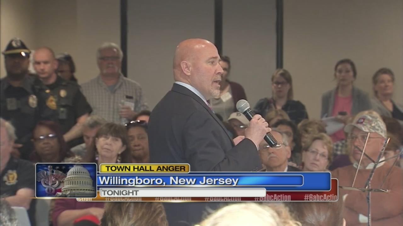 Congressman under fire at town hall meeting in Willingboro