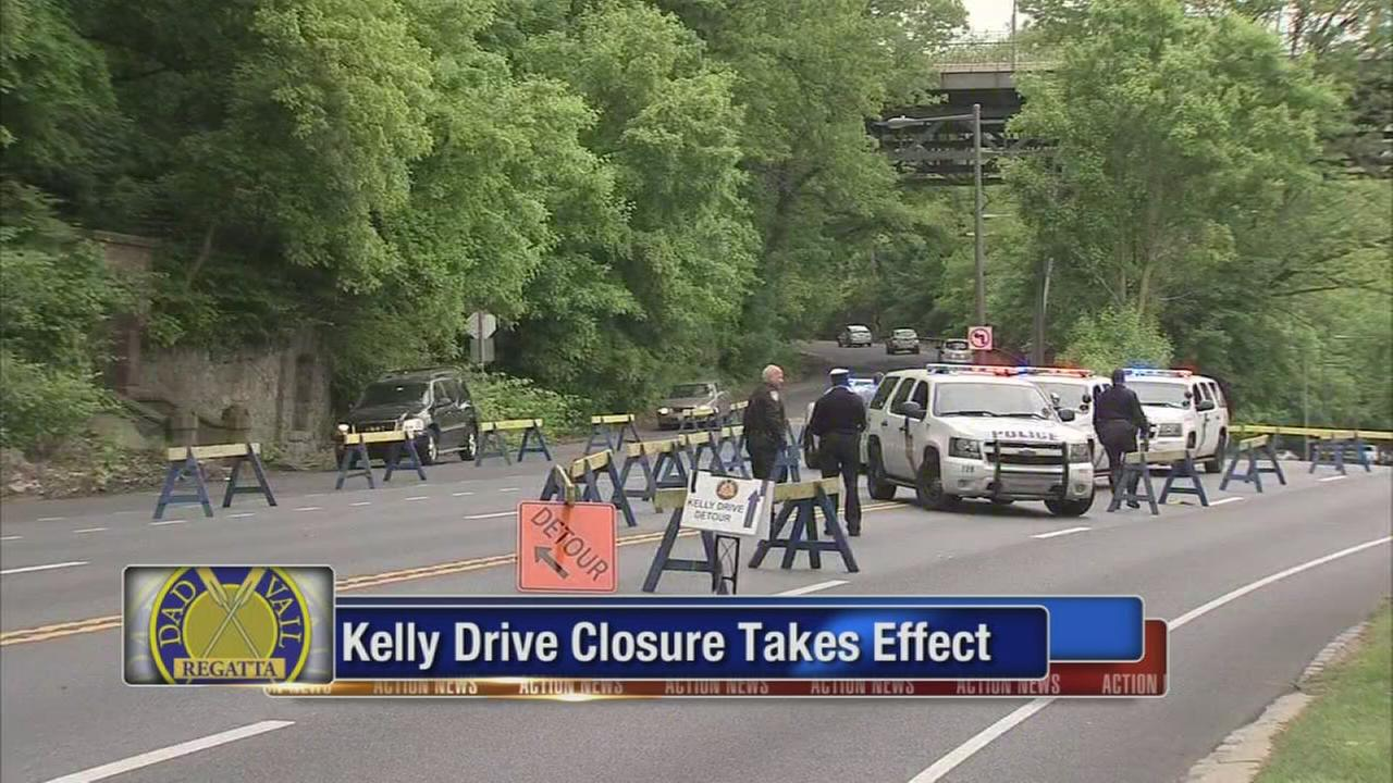 Kelly Drive closes for Dad Vail Regatta