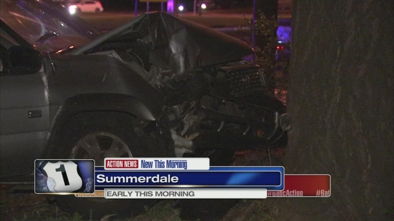 SUV driver hospitalized after crash