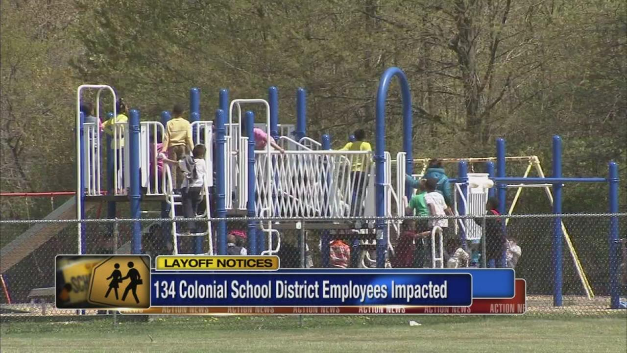 VIDEO: 134 Colonial School District employees given layoff notices