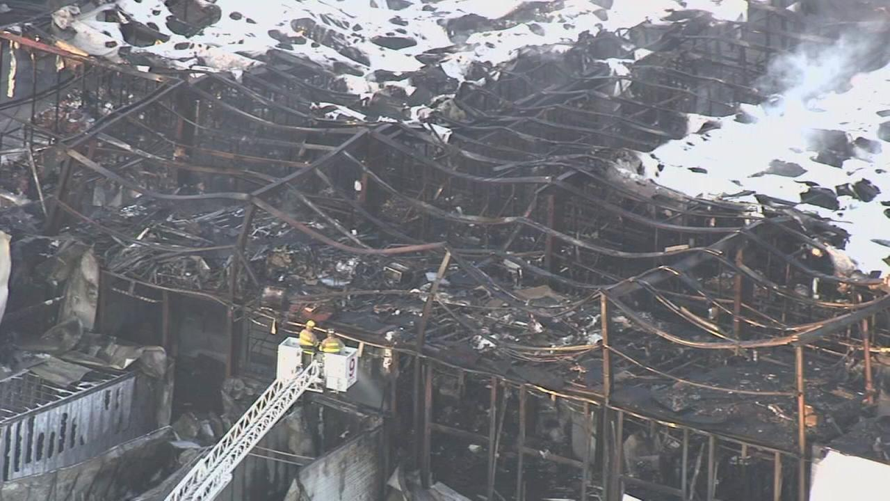 Massive blaze destroys packaging facility in Hammonton