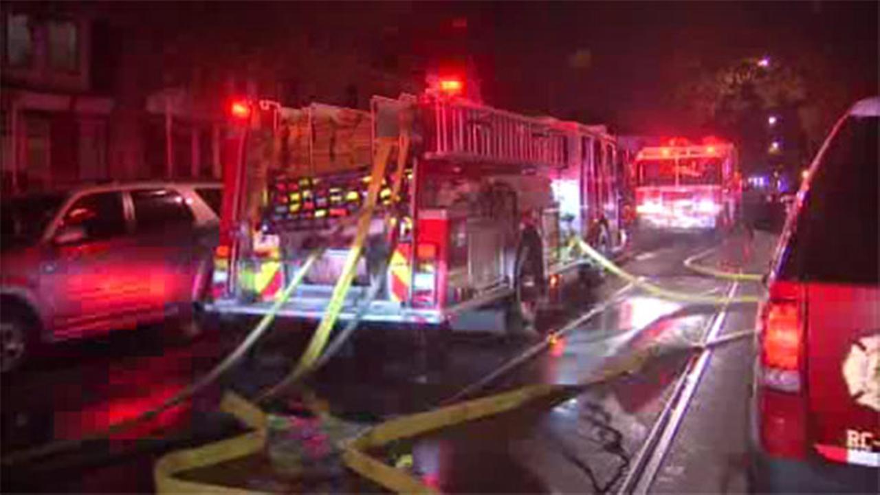 1 rescued from house blaze in West Philadelphia