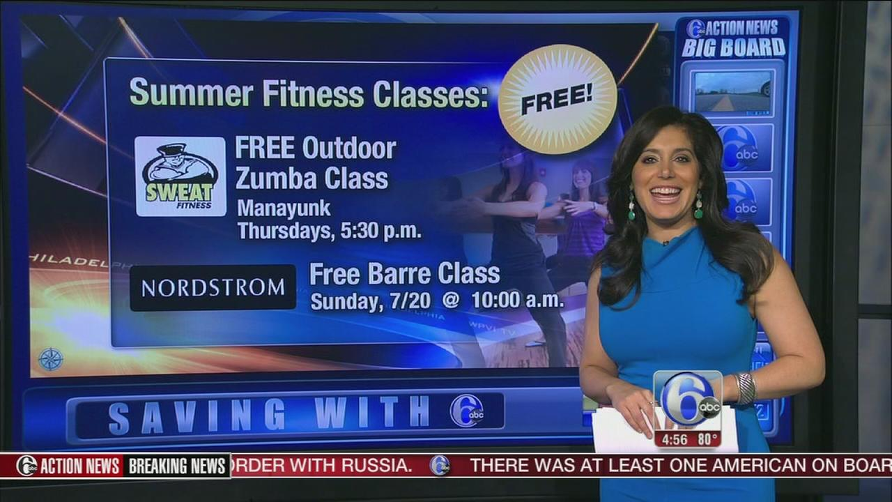VIDEO: Freebie Friday - fitness classes and lollipops!