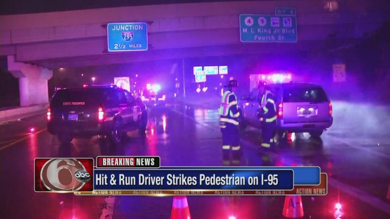 Pedestrian struck in hit-and-run on I-95 in Wilmington
