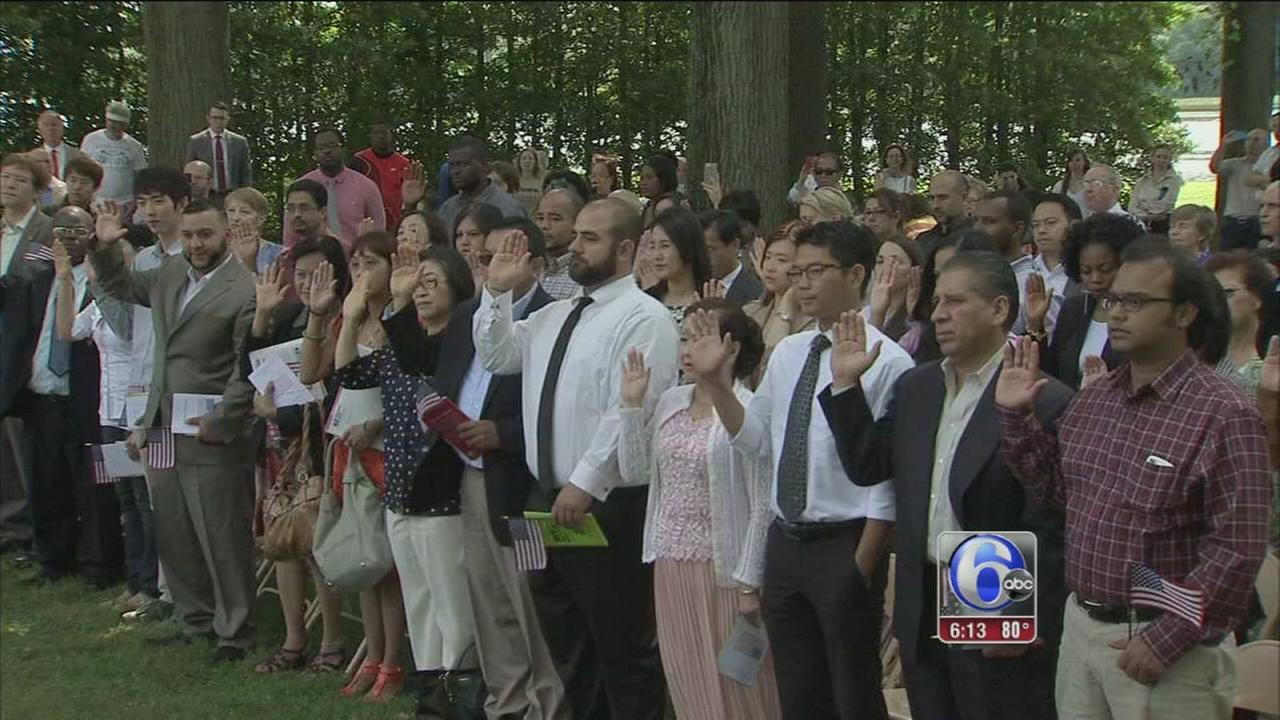 VIDEO: 45 people become US citizens in Morrisville