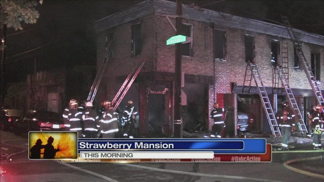 Fire damages Strawberry Mansion building