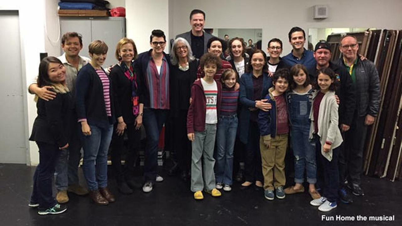 Comey, wife attend 'Fun Home' musical, marking first public appearance