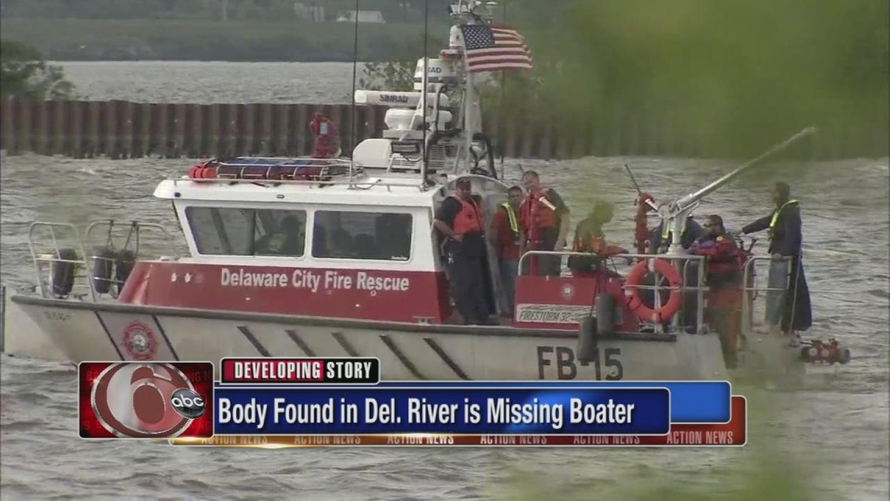 Missing boater found in Delaware River